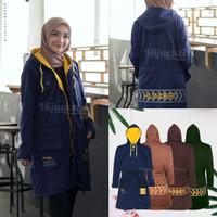 Jaket Muslimah Hijaber VENDULUM CORA BLUE Hijacket Original Panjang S