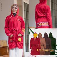 Jaket Muslimah Hijaber VENDULUM SPARROW RED Hijacket Original Panjang