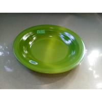 "Piring Ulir Datar 10"" Hijau Tua Melamine - Golden Flying Fish P-1001"