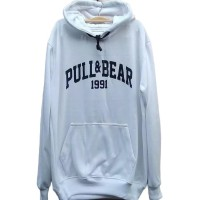 Jaket hoodie switer pull&bear 1991 hitam hijau army putih murah