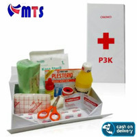 Onemed P3K warna merah model dompet One Med - Outdoor First Aid Kit