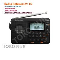 RETEKESS V115 Radio FM AM SW USB MP3PLAYER DIGITAL RECORDER