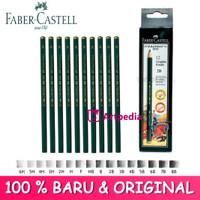 pensil kayu faber castell 8B-6H (original)