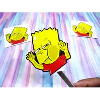 Sticker stiker kaca mobil Bart simpson