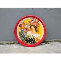 Vintage antik coca cola nampan jadul untuk koleksi dekorasi