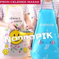 Celemek Dapur Karakter Kartun Lucu / Anti Air WaterProof - X306