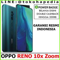 OPPO RENO 10x Zoom 8GB / 256GB BLACK / GREEN Garansi Resmi Indonesia