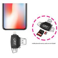 iDragon 5in1 micro SD SD TF Card Reader Type C micro USB Lightning USB