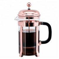 FRENCH PRESS COFFEE PLUNGER 600ML ROSE GOLD - ALAT KOPI