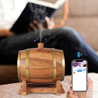 AROMA TERAPI DIFFUSER HUMIDIFIER + SPEAKER BLUETOOTH WINE BARREL 350ML