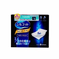 (100% Ori Japan) Unicharm Silcot Uruuru Sponge Facial Cotton 40sheets