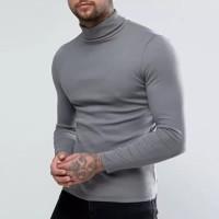 Kaos Turtleneck turtle neck pria fashion distro kerah tinggi hoodie