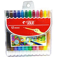 Crayon Titi Putar 12 Warna Kecil