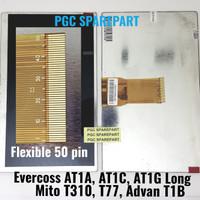 LCD Tablet Tab Evercoss AT1A AT1C AT1G Long - Mito T310 T77 Advan T1B