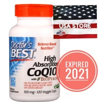 DOCTOR High Absorption CoQ10 120 Caps Co Q10 Doctor's Best