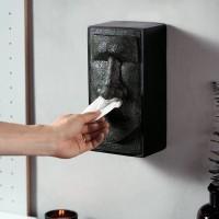 Black Toilet Paper Tissue Box Cover Dispenser Drawer / Tempat Tissue