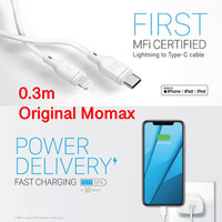 0.3M Kabel MFI USB Type C PD to Lightning 36W Fast Charging Momax ZERO
