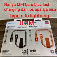 Lightning to Type-C Cable 0.3M Usb c to lightning MFI Elite Link momax