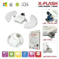 X-Flash Card Reader Drive For iPhone Android PC /OTG Multi Platform