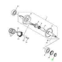 Gear Kruk As Taeming Jupiter MX 1S7-E1549 Yamaha Genuine Parts