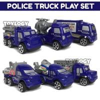 Mainan Anak Diecast Police Truck Car Play Set Mobil Truk Polisi
