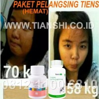 Paket Pelangsing Alami Hemat Chitosan & Double Cellulose Tianshi Tiens