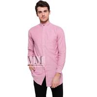 VM Kemeja Pink Salem Krah Shanghai Body Panjang