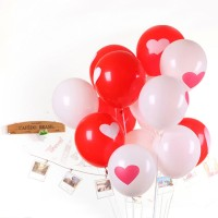 Balon Latex Motif Love/ Balon Merah Putih isi 10 pcs/ Balon HUT RI