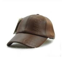 Topi Baseball / JAMONT PU Leather Baseball Cap Warm Hats for Men Women