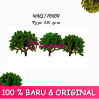MAKET Pohon / Diorama Pohon / Miniatur Pohon 4 cm / Tree Type AB-4cm