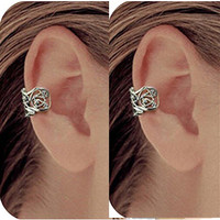 1 pcs Ear Cuff - Anting Jepit Tempel - Model Ukiran