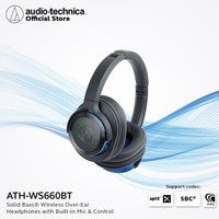 Audio-Technica ATH-WS660 BT Bluetooth Wireless Over-Ear Headset - Blue