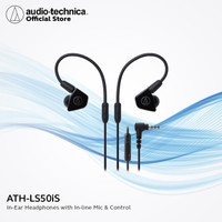 FLASH SALE Audio-Technica ATH-LS50iS In Ear Headphones with Inline Mic