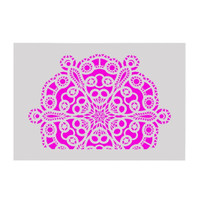 Plastic Stencil - Circle Chain Mandala Pattern (29,5x21,0cm)