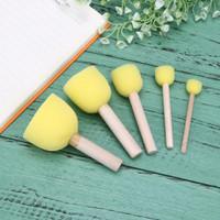Sponge Brush - Kuas Lukis Anak Bahan Spons (5pcs)