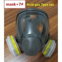 3M Masker Gas Acid Full Face - 6800 no.7