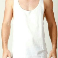 singlet kaos dalam longgar men's loose fit tank top import