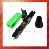 Fast Connector SC-APC Hijau Biasa Konektor Fiber Optik /Optic