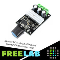Dimmer DC 6-28v 3A LED Motor Speed PWM Controller 1203B