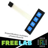 Keypad Membran 1x4 dengan 4 Tombol Numerik