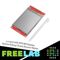 3.2 inch LCD TFT SPI Display Color Modul ILI9341 Touch Screen + Stylus
