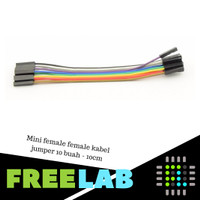 Mini female female kabel jumper 10 buah - 10cm