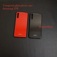Samsung A70 tempered glass phone case