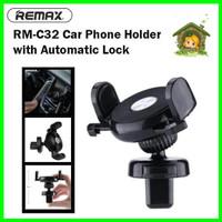 REMAX RM-C32 Automatic Lock Car Handphone Holder Mobil Kunci Otomatis