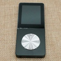 Metal HiFi DAP MP3 Player LCD E-Book FM Radio Clock 8GB - HITAM