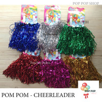 PomPom Cheerleader / Cheering Pom Pom / Rumbai Foil Supporter