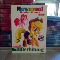 Buku Mewarnai TokohKartun Tayo Pony Frozen dll belajar membaca menulis