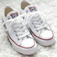 Sepatu Converse Casual Pria Wanita Low High White Putih Grad Original