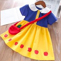 dress kostum princess model snow white kualitas bagus dengan tas merah