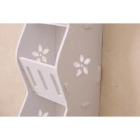 Harga storage decorative rack shabby chic rak kosmetik hp remote | antitipu.com